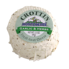 MONTCHEVRE CROTTIN GARLIC AND HERB GOAT CHEESE 3.5 OZ