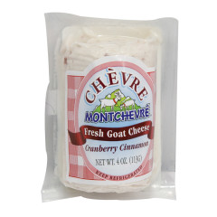 MONTCHEVRE CRANBERRY CINNAMON GOAT CHEESE 4 OZ LOG