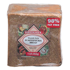 RUBSCHLAGER DANISH PUMPERNICKEL BREAD 16 OZ