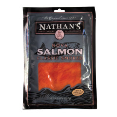 NATHAN'S COLD SMOKED WILD KETA ATLANTIC CAUGHT SALMON 8 OZ