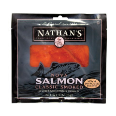 NATHAN'S COLD SMOKED WILD KETA ATLANTIC CAUGHT SALMON 3 OZ