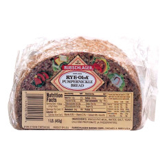 RUBSCHLAGER RYE-OLA PUMPERNICKEL BREAD 16 OZ