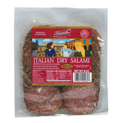 BUSSETO SLICED PEPPER ITALIAN DRY SALAMI 8 OZ