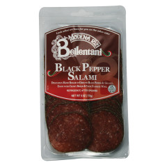 BELLENTANI SLICED BLACK PEPPER DRY ITALIAN SALAMI 6 OZ
