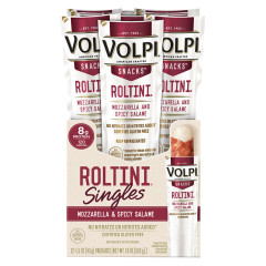VOLPI ROLTINI MOZZARELLA AND SPICY SALAMI SINGLES 1.5 OZ