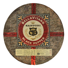 SARTORI BLACK PEPPER BELLAVITANO CHEESE WHEEL