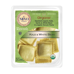 NUOVO ORGANIC KALE AND WHITE BEAN RAVIOLI PASTA 9 OZ