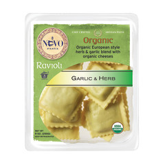 NUOVO ORGANIC GARLIC AND HERB RAVIOLI PASTA 9 OZ