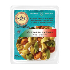 NUOVO TRICOLOR MOZZARELLA AND HERB TORTELLINI PASTA 9 OZ