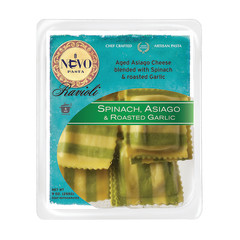 NUOVO SPINACH ASIAGO AND ROASTED GARLIC RAVIOLI PASTA 9 OZ