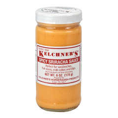 KELCHNER'S SPICY SRIRACHA SAUCE 6 OZ BOTTLE
