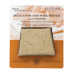 ALEXIAN DUCK LIVER MOUSSE PATE WITH COGNAC 5 OZ