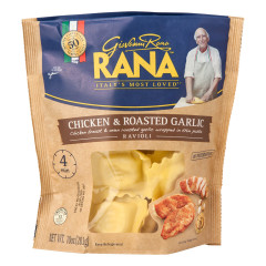 RANA CHICKEN AND ROASTED GARLIC RAVIOLI 10 OZ POUCH