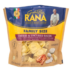RANA CHEESE AND UNCURED BACON RAVIOLI 20 OZ POUCH