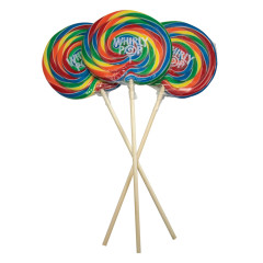 WHIRLY POPS RAINBOW COLORS 5.25 INCH 6 OZ
