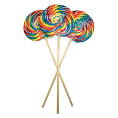 WHIRLY POP RAINBOW COLORS 6.5 INCH 10 OZ