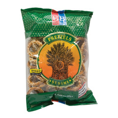 B&B SESAME PRETZEL RINGS 7 OZ BAG