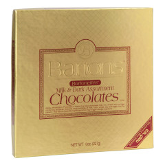 BARTONS KOSHER FOR PASSOVER BARTONETTES MILK AND DARK CHOCOLATES BOX 8 OZ
