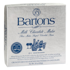BARTONS KOSHER FOR PASSOVER MILK CHOCOLATE ALMOND MATZO 10 OZ