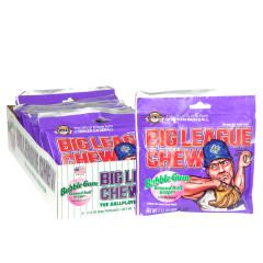 BIG LEAGUE CHEW GRAPE BUBBLEGUM 2.12 OZ POUCH