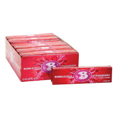 BUBBLICIOUS STRAWBERRY GUM