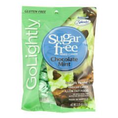GO LIGHTLY SUGAR FREE CHOCOLATE MINT HARD CANDY 2.75 OZ PEG BAG