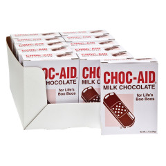 MILK CHOCOLATE BAND AIDS 2.7 OZ BOX