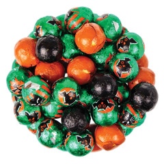 MADELAINE MILK CHOCOLATE HALLOWEEN FOILED BALLS