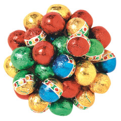 MADELAINE MILK CHOCOLATE CHRISTMAS FOILED BALLS