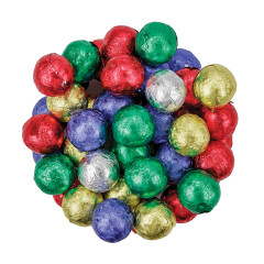 MADELAINE CRISP MILK CHOCOLATE FOILED CHRISTMAS BALLS