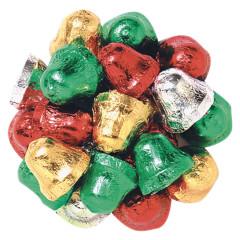MADELAINE MILK CHOCOLATE FOILED CHRISTMAS BELLS