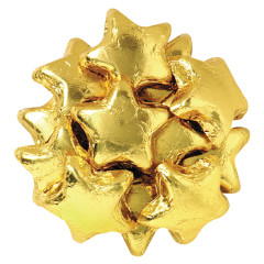 MADELAINE MILK CHOCOLATE FOILED STARS GOLD