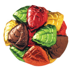 MADELAINE MILK CHOCOLATE FOILED LEAVES