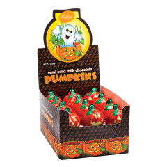 MADELAINE MILK CHOCOLATE FOILED SEMI SOLID PUMPKIN 2 OZ