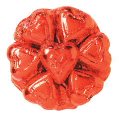 MADELAINE MILK CHOCOLATE FOILED RED HEARTS