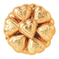 MADELAINE DARK CHOCOLATE FOILED BRONZE HEARTS