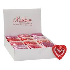 MADELAINE VALENTINE CHOCOLATE FLOWER HEART 0.5 OZ