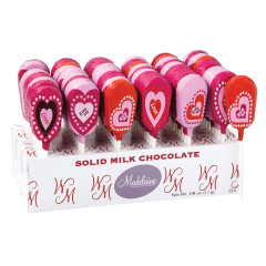MADELAINE MILK CHOCOLATE FOILED VALENTINE 0.38 OZ LOLLIPOP