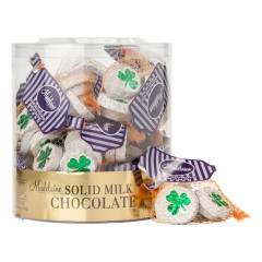 MADELAINE MILK CHOCOLATE FOILED SHAMROCKS 2 OZ MESH BAG