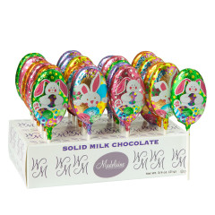 MADELAINE MILK CHOCOLATE FOILED EASTER 0.38 OZ LOLLIPOP