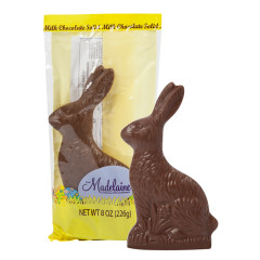MADELAINE MILK CHOCOLATE SITTING RABBIT 8 OZ