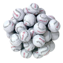MADELAINE MILK CHOCOLATE FOILED BASEBALLS