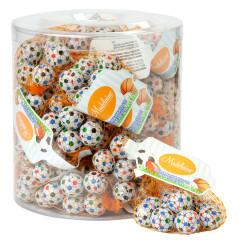 MADELAINE MILK CHOCOLATE FOILED SOCCER BALLS MESH BAG