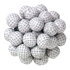 MADELAINE MILK CHOCOLATE FOILED GOLF BALLS