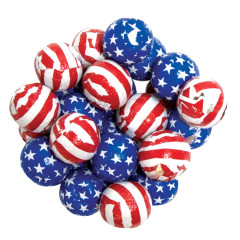 MADELAINE MILK CHOCOLATE FOILED STARS AND STRIPES BALLS
