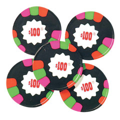MADELAINE DARK CHOCOLATE MINT FOILED $100 POKER CHIPS