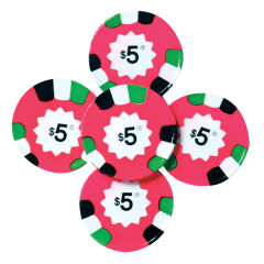MADELAINE MILK CHOCOLATE $5 POKER CHIPS