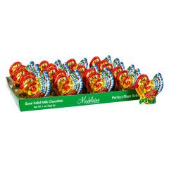 MADELAINE MILK CHOCOLATE FOILED SEMI SOLID TURKEY 1 OZ
