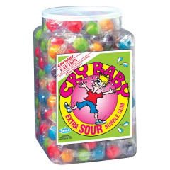 CRY BABY WRAPPED EXTRA SOUR BUBBLE GUM TUB