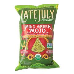 LATE JULY ORGANIC MILD GREEN MOJO TORTILLA CHIPS 5.5 OZ BAG